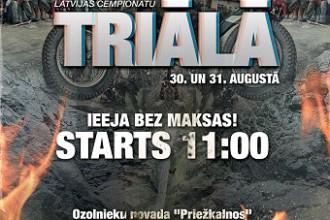 """LČ noslēdzošie posmi triālā 30.-31.augustā """"Priežkalnos"""""""