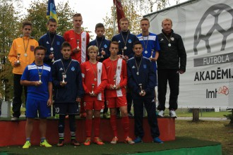 Rīgas U-14 futbolisti kļūst par LMT Futbola akadēmijas reģionālo turnīra uzvarētājiem