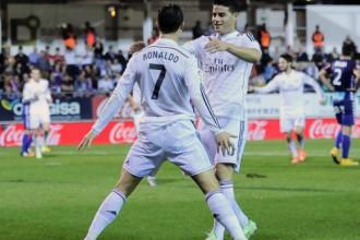 """Madrides """"Real"""" izcīna 9.uzvaru pēc kārtas, Ronaldu jau 20 vārti"""