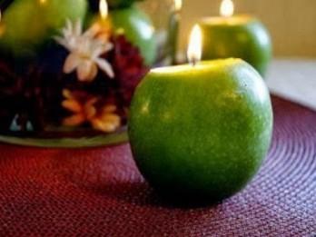 Radoša ideja: oriģināli ābolu svečturi pašu rokām