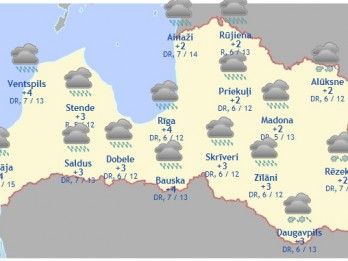 Laika prognoze šodienai - 20. februārim