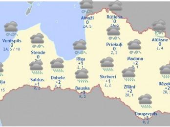 Laika prognoze šodienai - 21. februārim