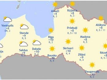 Laika prognoze šodienai - 23. martam