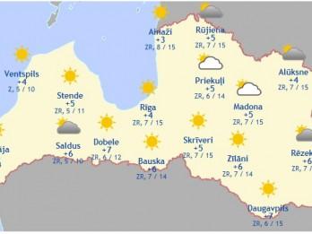 Laika prognoze šodienai - 28. martam