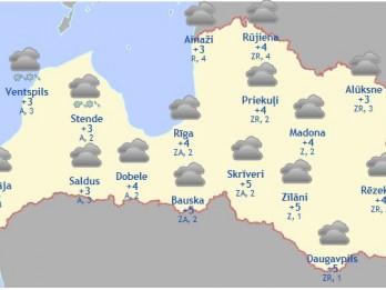 Laika prognoze šodienai - 29. martam