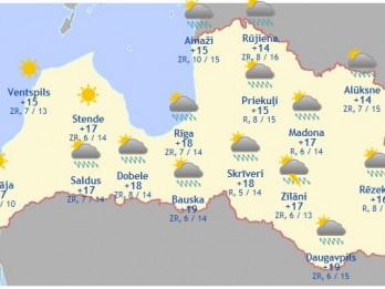 Laika prognoze šodienai - 21. jūnijam