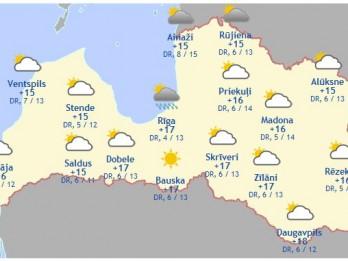 Laika prognoze šodienai - 16. septembrim