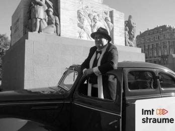 """Video: Aizkulises: kā tapa filma """"Ievainotais jātnieks"""" par Kārli Zāli un Brīvības pieminekli"""