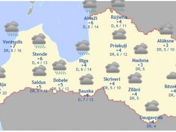 Laika prognoze šodienai - 18. novembrim