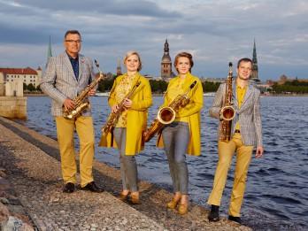 """Svētdien uz """"Brīvdienu mūzikas"""" koncertu Dzintaru koncertzālē aicina Rīgas Saksofonu kvartets"""