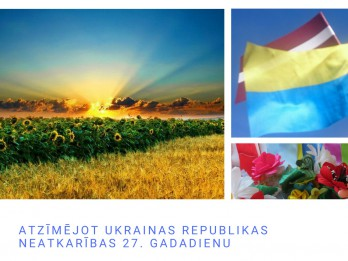 Vangažos atzīmēs Ukrainas neatkarības 27. gadadienu