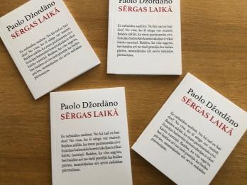 """Izdod romāna """"Pirmskaitļu vientulība"""" autora Paolo Džordāno eseju """"Sērgas laikā"""""""