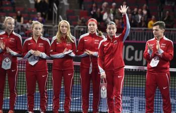 """Latvija uzvar Slovākiju, nopelnot ceļazīmi uz """"Fed Cup"""" pirmās grupas pārspēlēm"""