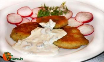 Pankūkas no vārītiem un nevārītiem kartupeļiem: KARTUPEĻU DUETS