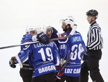 Latvijas 1. hokeja līgā pārliecinoši triumfē Daugavpils