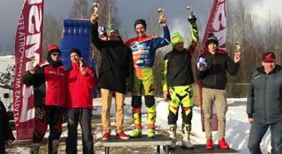 Latvijas čempionāts skijoringā startējis Stāmerienā