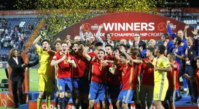 Spānijas U17 izlase pendelēs pieveic Angliju un drāmā kļūst par Eiropas čempioni