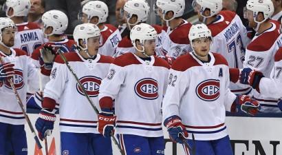 """Lekonenam un Kvelē pa diviem vārtiem, """"Canadiens"""" grauj """"Maple Leafs"""""""