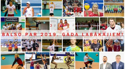 """Sākas balsojums par 2019. gada Latvijas labākajiem volejbolā un """"bīčā"""""""
