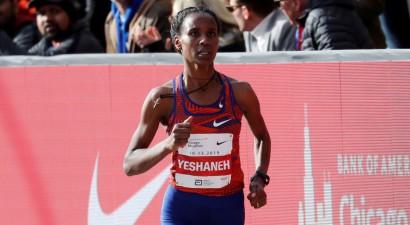 Ješaneha par 20 sekundēm labo pasaules rekordu pusmaratonā