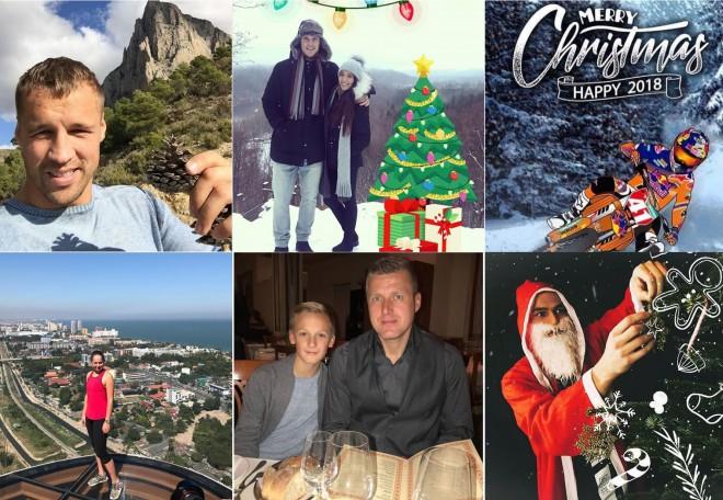 Latvijas vadošo sportistu tik dažādie sveicieni Ziemassvētkos