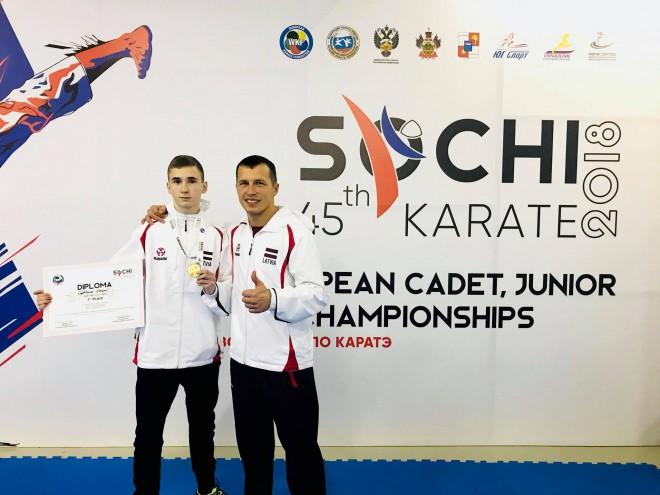 Karatists Gaiduks izcīna kadetu EČ bronzu
