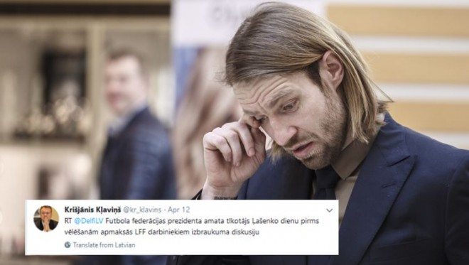 """LFF """"Twitter"""" čalas: Gorkšs sašutis par Ļašenko, Mihelsons taisnojas"""