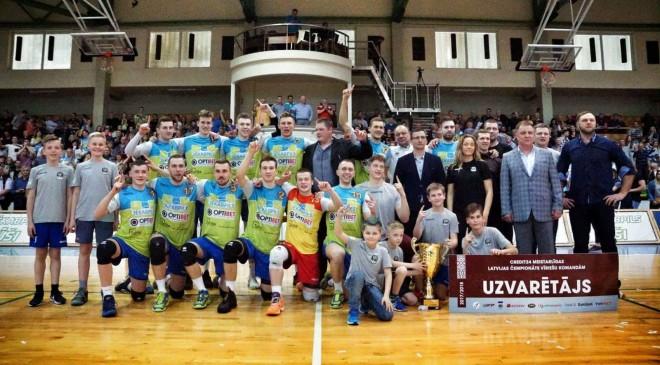 """""""Jēkabpils Lūši"""" pārtrauc """"Robežsardzes"""" dominanci Latvijas volejbolā"""