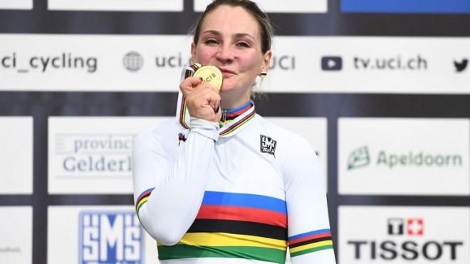 Olimpiskā čempione treka riteņbraukšanā Fogele paralizēta pēc smaga savainojuma treniņā