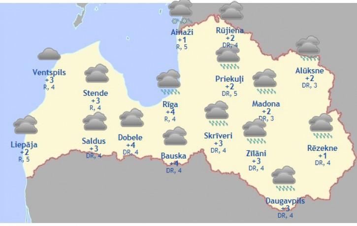 Laika prognoze šodienai - 17. februārim