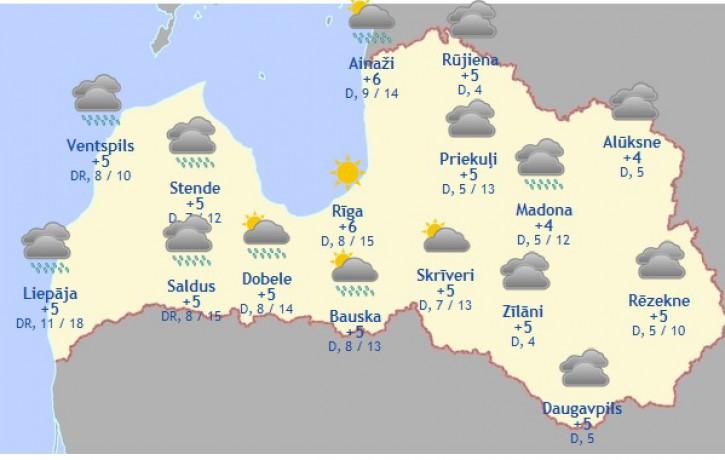 Laika prognoze šodienai - 11. novembrim
