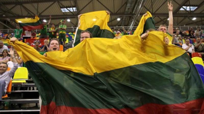 Lietuvas izlases fani Foto: fiba.com