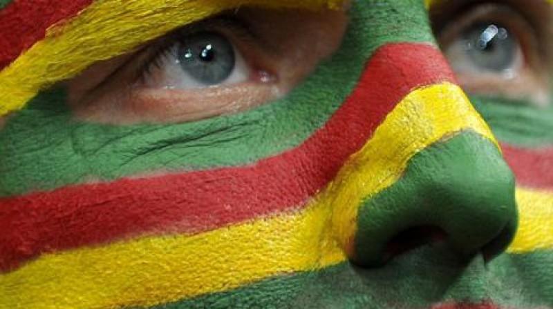 Lietuvas izlases atbalstītājs Foto: Scanpix