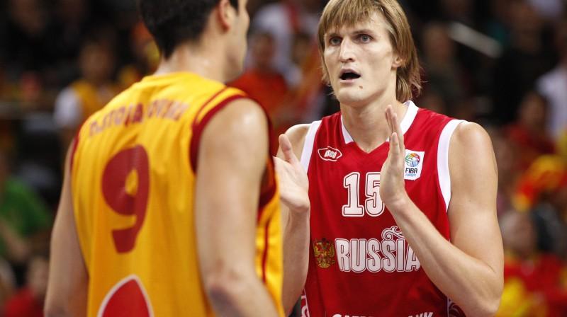 Viens no šī čempionāta spīdekļiem Andrejs Kiriļenko aizveda Krieviju līdz bronzai  Foto: AP/Scanpix
