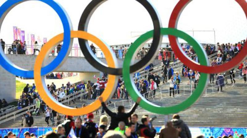 Pieci olimpiskie apļi Foto:ITAR-TASS/Scanpix