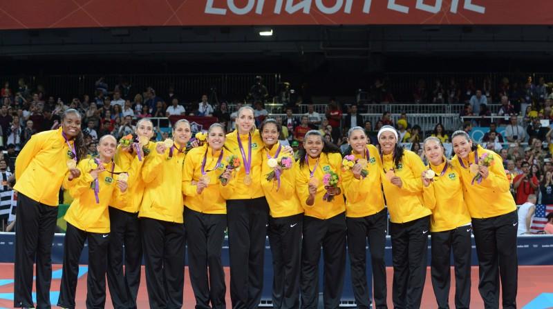 Brazīlijas sieviešu volejbola izlases triumfs 2012  Foto: AFP / Scanpix