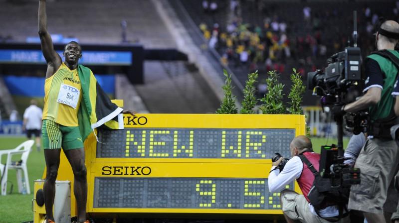 Useins Bolts sasniedz 9.58 Foto: AFP / Scanpix
