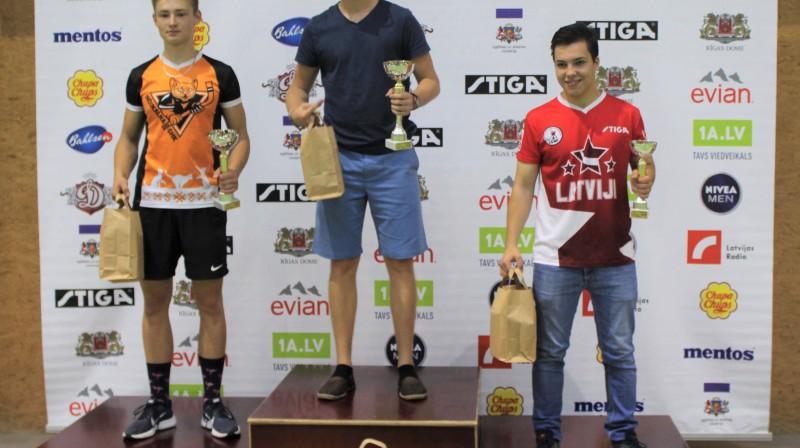 Latvijas Kausa 1. posma goda pjedestāls - Rainers Kalniņš (2), Sandis Kristaps Lagzdiņš (1), Raimonds Miglinieks (3)