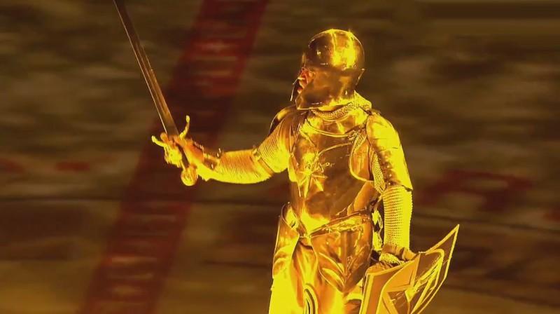 """""""Golden Knights"""" mača atklāšanas šovmenis Foto: AT&T SportsNet / NHL"""