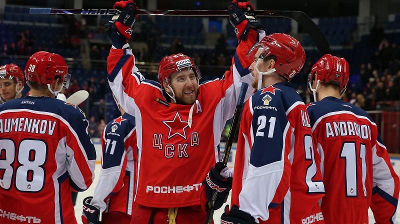 Maskavas CSKA hokejistu prieki. Foto: www.cska-hockey.ru