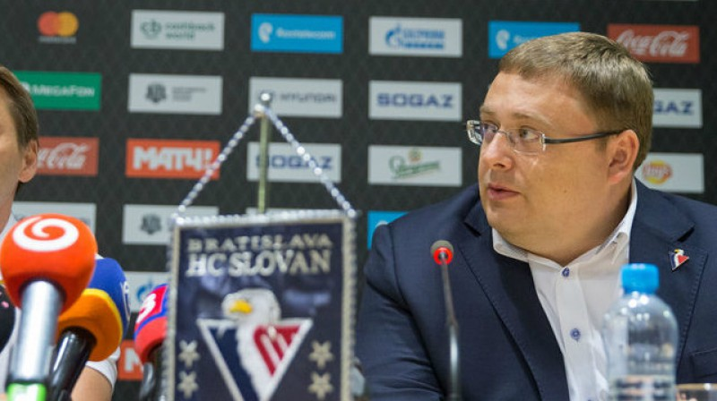 """Bratislavas """"Slovan"""" viceprezidents Jurajs Širokijs jaunākais. Foto: Ivan Majersky / pravda.sk"""