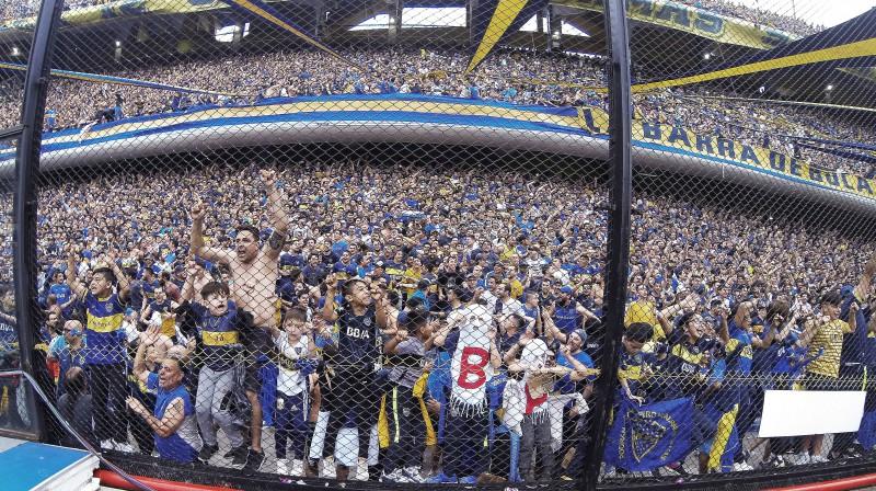 """""""Boca Juniors"""" līdzjutēji. Foto: Reuters/Scanpix"""
