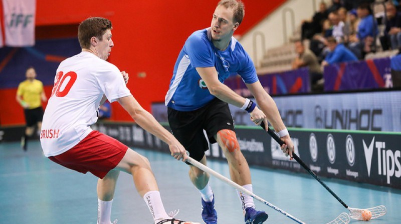 Igaunijas izlase čempionātu noslēgs ar spēli pret slovākiem Foto: IFF Floorball
