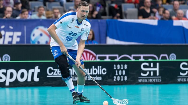 Mika Kohonens joprojām ir liela vērtība Somijas florbola izlasē Foto: IFF Floorball