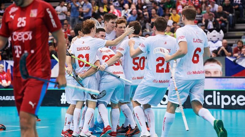 Šveices izlase atkal kļuvusi par trešo spēcīgāko florbola valstsvienību pasaulē Foto: IFF Floorball
