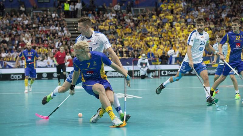 Zviedrija un Somija arī Eiropas čempionātā noteikti būtu galvenās favorītes Foto: IFF Floorball