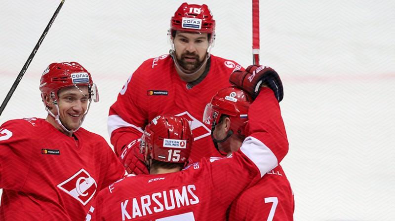 Mārtiņš Karsums un Kaspars Daugaviņš. Foto: spartak.ru