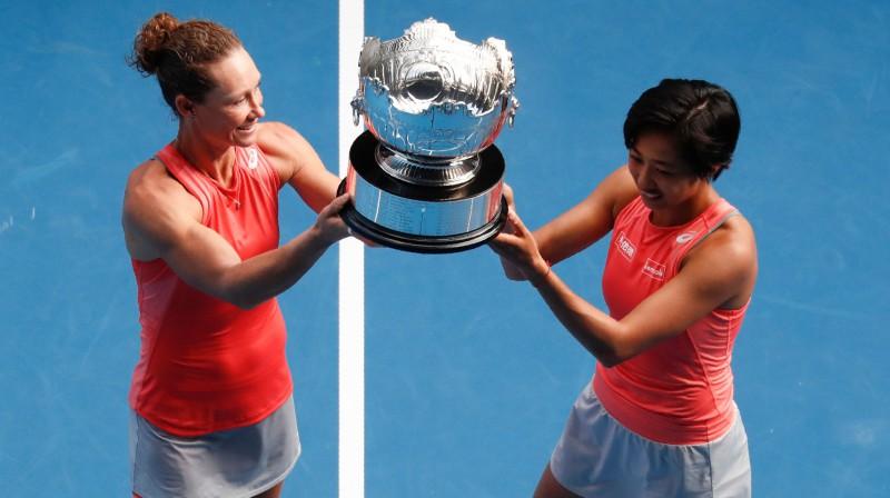 Samanta Stousura un Šuaja Džana. Foto: AFP/Scanpix