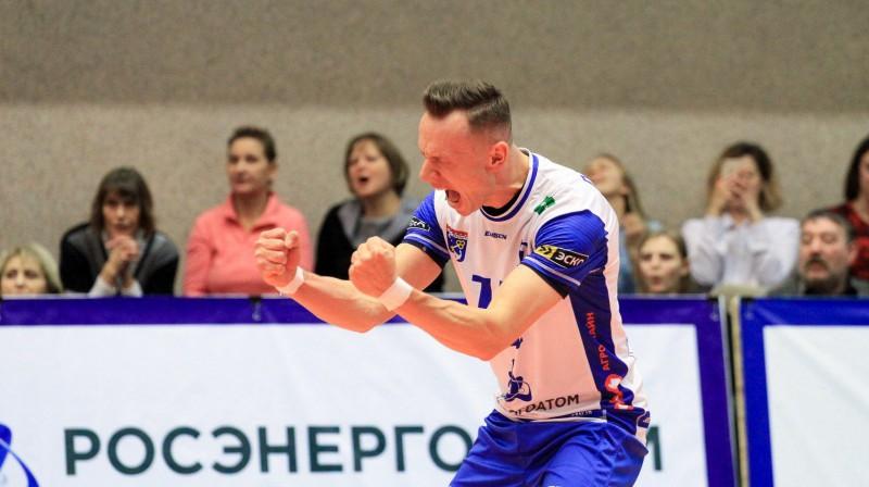"""Viens no pārsteiguma autoriem Deniss Petrovs Foto: Facebook/ĻA """"Dinamo"""""""