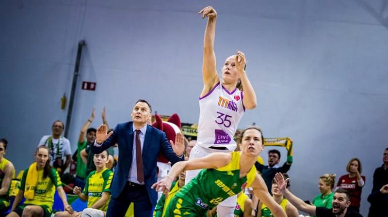 Katei Krēsliņai otrā, TTT sestā sezona FIBA Eirolīgā. Foto: Renārs Koris